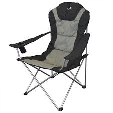 Reclining Camping Chairs Ebay by Wild Camping Deluxe Padded Folding Picnic Garden Camp Chair Ebay