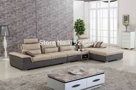 2016 New Beanbag Top Fashion Bean Bag Chair Sofas For Living Room Muebles Big Size U Shape Modern Design Leather Corner Sofa In From