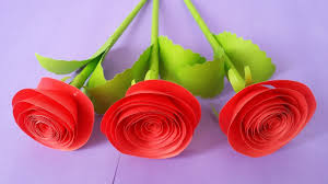 How To Make Rose Flower With Colour Paper