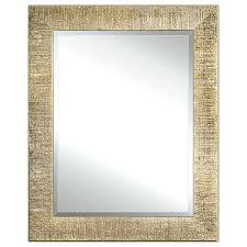 spiegel mit goldrahmen aus holz rechteckiger spiegel im stil für schlafzimmer badezimmer flur spiegel in gold made in italy