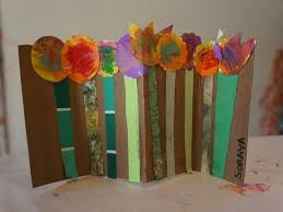 Garden Collage Spring Project With Recycled Materials Cereal Box And Paintchips