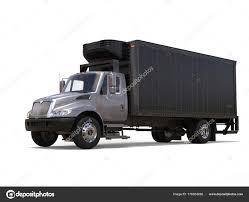 Silver Refrigerator Truck Black Trailer — Stock Photo © Trimitrius ...