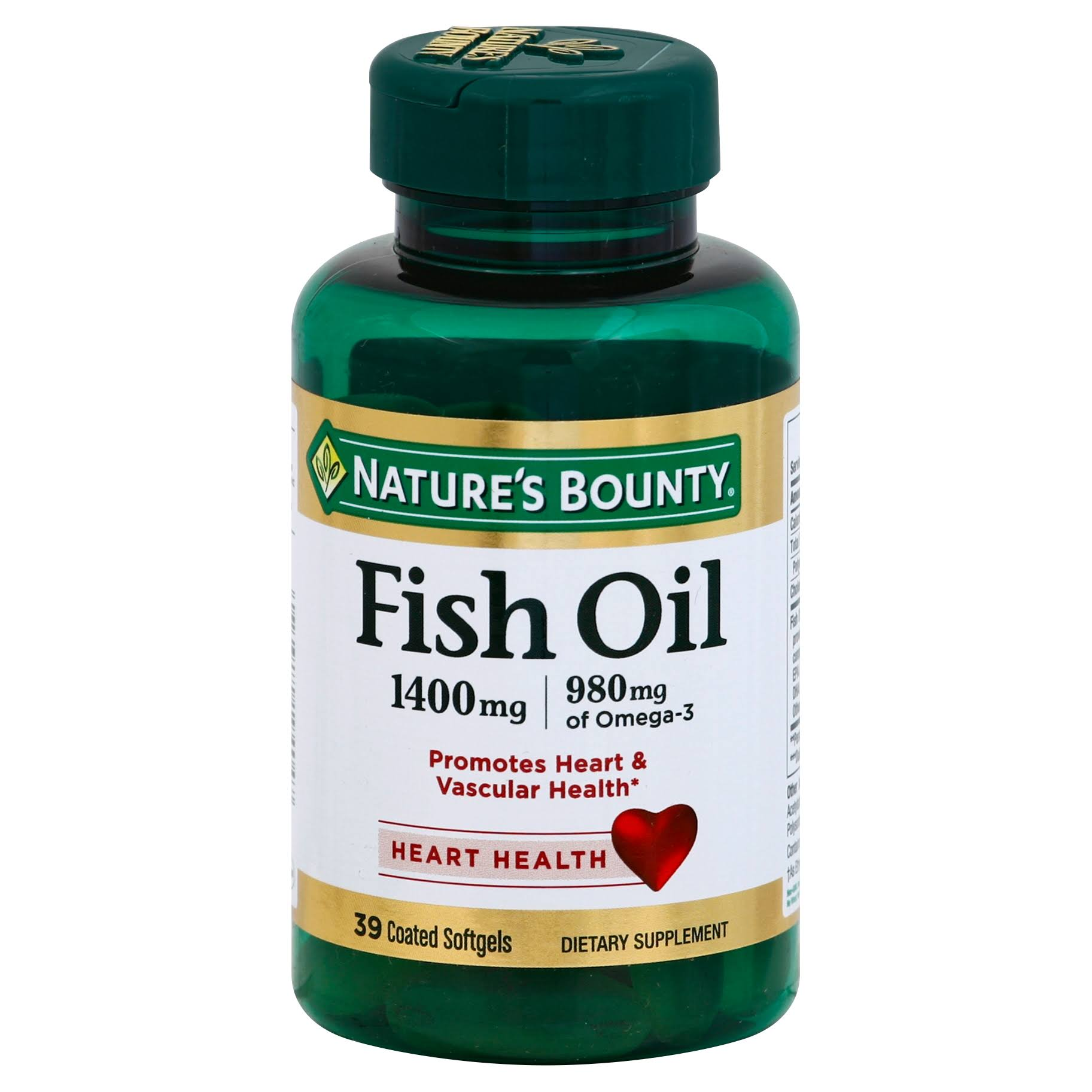 Nature's Bounty Fish Oil Supplement - 1400mg, 39 Caps