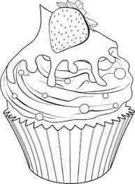 5 Best of Printable Birthday Cupcake Outlines Black and bulletin board Pinterest