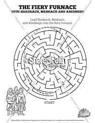 The Fiery Furnace With Shadrach Meshach And Abednego Bible Mazes