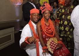 Traditional wedding attire in Igboland bride and groom