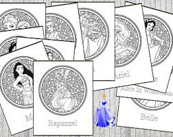 Disney Princess Printable Relaxing Adult Colouring Book