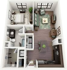 Modern 1 Bed Apartment Ideas Brown Carpet Bedroom Marble Countertops Bathroom Vanity Walk In Cabinet Grey Fabric Sofa L Shaped Kitchen Laminated