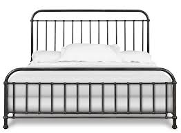 Industrial Revival Style California King Size Metal Bed by
