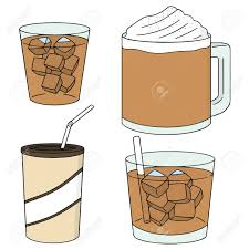Vector Set Of Iced Coffee Royalty Free Cliparts Vectors And Stock