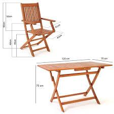 chaise ée 70 ensemble 1 table et 4 chaises en bois d acacia pliable pour salons