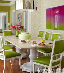 Green Color Dining Room