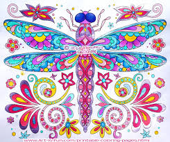 Dragonfly Coloring Page By Thaneeya McArdle From Groovy Animals Pages Colored