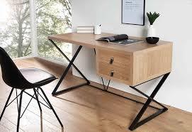 bureau en acier acier design l x i h cm noir table bureau bois inspiration de bureau