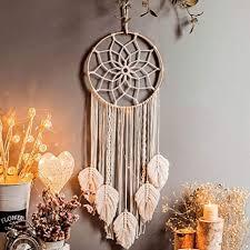 herbests traumfänger handgefertigt großer boho traumfänger mit weißer gewebte makramee wandbehang ornament für baby shower car home decor hochzeit