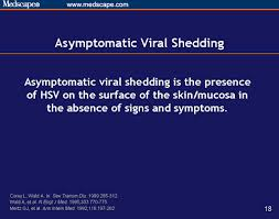 hsv 2 and asymptomatic viral shedding prevention and management