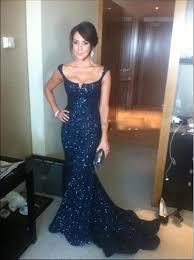 bling bling navy blue prom dresses sequin prom dress long evening