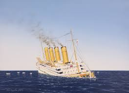 Lusitania Sinks In Real Time by Hmhs Britannic Atlantic Liners