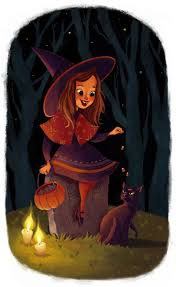 Vintage Halloween Collector Weeny Witch by 673 Best Halloween Art And Clip Art Images On Pinterest