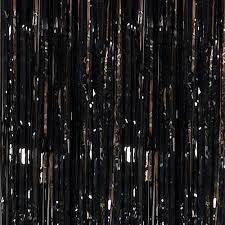 Foil Fringe Curtain Singapore by Black Metallic Curtains Shindigz
