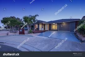 100 Modern Single Storey Houses Twilight Shoot House Stock Photo Edit Now
