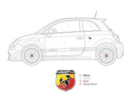Get Crafty Color By Numbers FIAT 500 Abarth