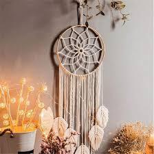 makramee traumfänger wandbehang boho handgemachte traumfänger für schlafzimmer wohnzimmer dekoration b