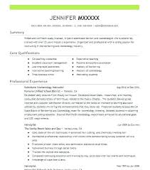 Sample Resume For Cosmetologist Cosmetology Recent Graduate Templates Create My