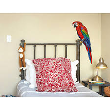 wandtattoo tiere papagei tropen vogel dekodino