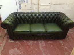 Olive Green 3 Seater Chesterfield Sofa On Gumtree Mint Condition Thomas Lloyd