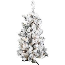 Vickerman Flocked Alaskan Pine Artificial Christmas Tree With 116 127 Tips 100 Clear Or