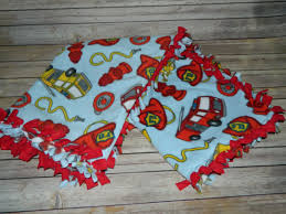 Fire Truck Frenzy Pattern No-Sew Anti-Pill Fleece Blanket 40