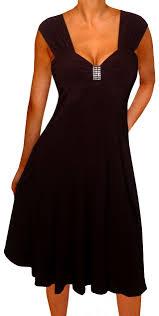 funfash plus size slimming black empire waist cocktail cruise dress