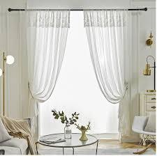 transparente gardine romantischer stil aus polyester für