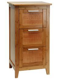 eisl badezimmer bambus schrank mit 3 schubladen braun 42 x 32 x 82 cm