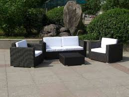 Wicker Lawn Furniture Bedroom Black Square Armchair And Loveseat Sofa With