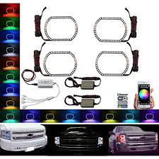 100 2014 Chevy Truck Colors 0714 Silverado MultiColor LED RGB Headlight Halo Ring
