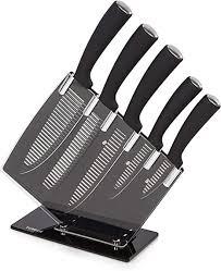 Kitchen Knive Set Tower Kitchen Knife Sets Edelstahl Schwarz 10 5 X 33 5 X 35 5 Cm