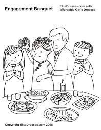 Engagement Banquet Chinese Wedding Coloring Pages