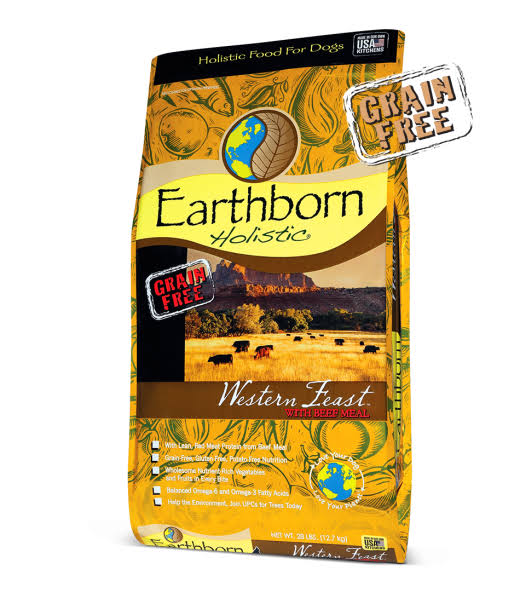 Earthborn 28 lbs Western Feast Dog Food