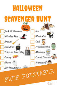 Halloween Candy List by Halloween Scavenger Hunt Free Printable U2022 Fyi By Tina