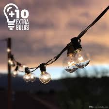 25ft g40 globe string lights with clear bulbs ul listed backyard