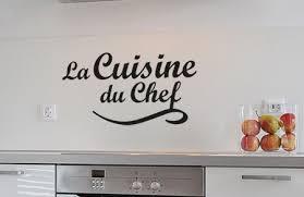 stickers cuisine phrase stickers cuisine du chef phrase décorative pour mur crédence et