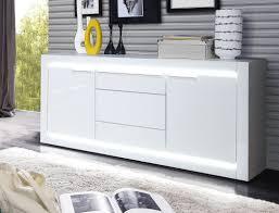 sideboard livorno 4 hochglanz weiß 158x79x42 cm led anrichte