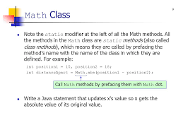 Math Ceil Java Int by Chapter 5 Using Pre Built Methods Ppt Video Online Download