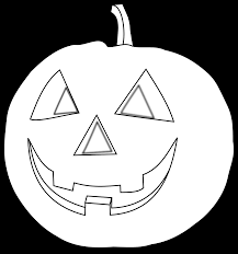 Simple Black And White Pumpkin Clip Art Medium size