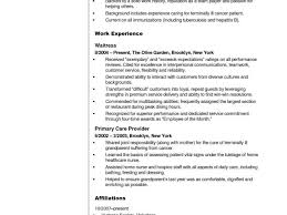 Home Health Aide Resume Sample From Objective Examples Healthcare