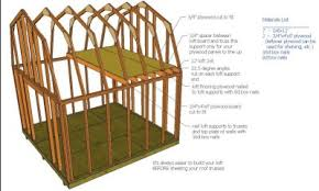 10 X 16 Shed Plans Gambrel by Shed Plans Colonial Style 10x16 Shed With Loft Plans