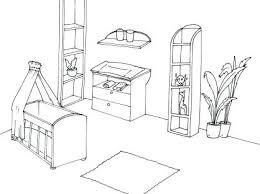 dessin chambre bébé coloriage de chambre de fille dessin chambre bb