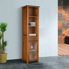 Tall Bathroom Cabinets Free Standing Ikea by Bathroom Tall Linen Cabinet With Hamper Bath Tower Cabinet Oak